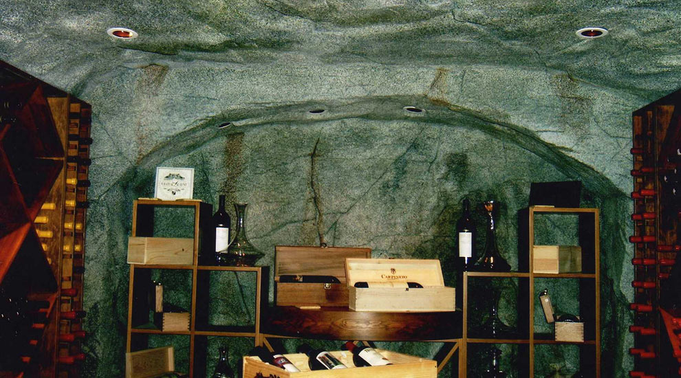 Custom Wind Cellar created using artificial rockwork.